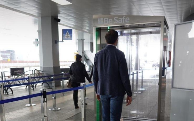 Aeroporto Milano Bergamo - Cabina di sanificazione