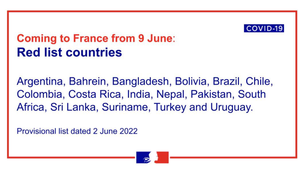 Vacanze in Francia - Lista rossa